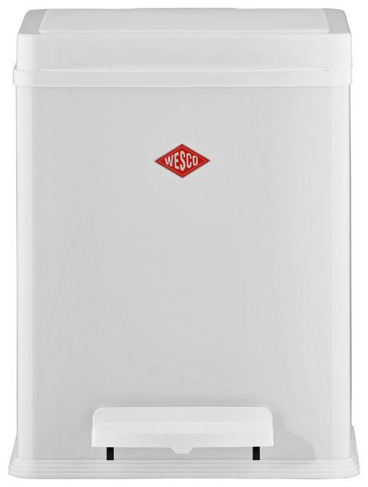 ABFALLSAMMLER 20 L - Schwarz/Weiß, Basics, Kunststoff/Metall (34/28,5/28,5cm) - Wesco