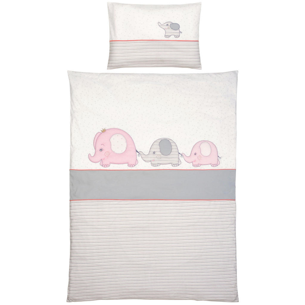 Patinio BABYBETTWÄSCHE, Weiß, Rosa   Kinderzimmer > Textilien für Kinder > Kinderbettwäsche   Textil   Patinio