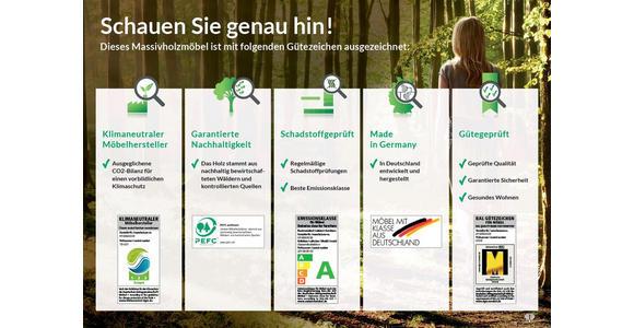 HÄNGESIDEBOARD Asteiche massiv Schlammfarben, Eichefarben  - Schlammfarben/Edelstahlfarben, Design, Glas/Holz (295/58,2/47,1cm) - Valnatura