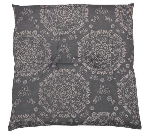 GARTENHOCKERAUFLAGE  - Grau, Design, Textil (48/48/5cm)