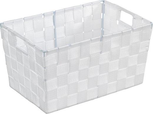 KORB - Weiß, Kunststoff (30/20/15cm)