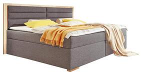 BOXSPRINGBETT 180/200 cm  in Anthrazit, Eichefarben  - Eichefarben/Anthrazit, Design, Holzwerkstoff/Textil (180/200cm) - Carryhome