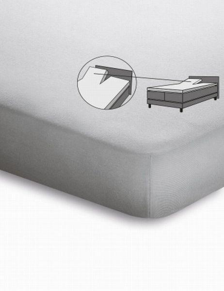 SPLIT TOPPER Jersey Weiß bügelfrei - Weiß, Basics, Textil (200/220cm)