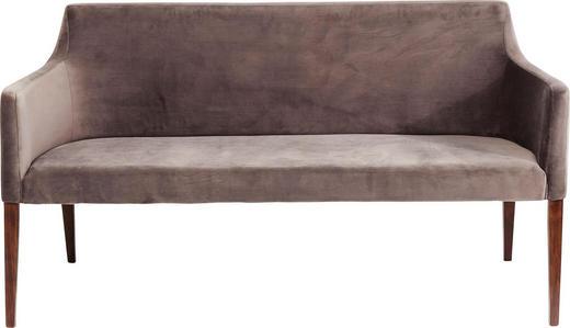 SITZBANK Samt Grau - Walnussfarben/Grau, Trend, Holz/Textil (164/88/62cm) - Kare-Design