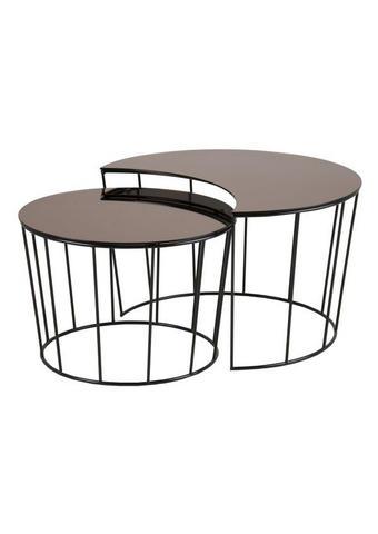 SET MIZIC, črna, bron  - bron/črna, Design, kovina/steklo (55/40cm) - Carryhome