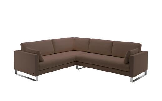 WOHNLANDSCHAFT Braun Echtleder - Braun, Design, Leder (230/273cm) - Rolf Benz