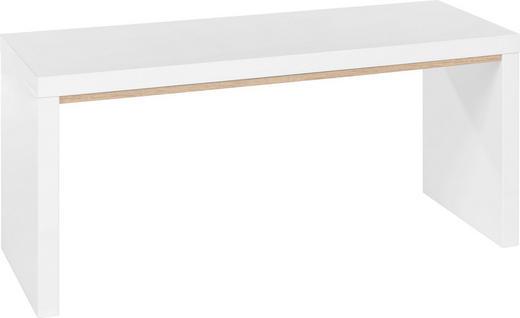 SITZBANK Eichefarben, Weiß - Eichefarben/Weiß, Design, Holzwerkstoff (100/46/35cm) - Xora