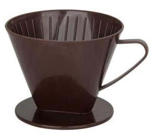 KAFFEEFILTERHALTER - Braun, Basics, Kunststoff (12/10/14,5cm) - Fackelmann