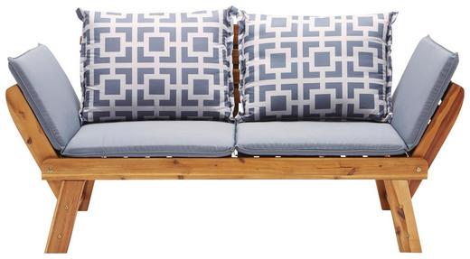 GARTENBANK Akazie - Akaziefarben/Grau, Design, Holz/Textil (190/75/67cm) - Ambia Garden