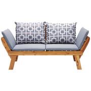 GARTENBANK Akazie - Grau/Akaziefarben, Design, Holz/Textil (190 75 67cm) - Ambia Garden