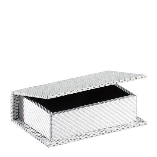 BÜCHERBOX Holz, Kunststoff Weiß - Weiß, Holz/Kunststoff (16/11/4,5cm) - Ambia Home