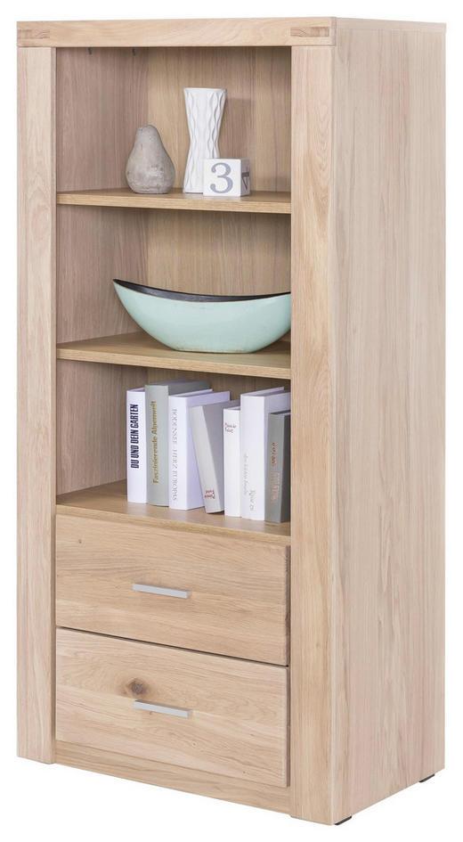 REGAL Wildeiche massiv Eichefarben - Chromfarben/Eichefarben, Design, Holz/Holzwerkstoff (66/140/40cm) - Carryhome
