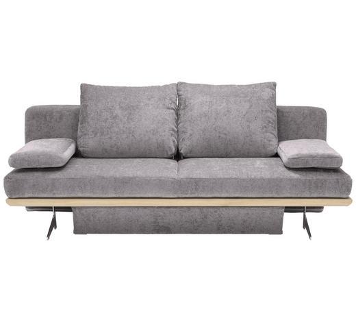 SCHLAFSOFA in Textil Hellgrau  - Chromfarben/Hellgrau, Design, Textil/Metall (215/96/103cm) - Dieter Knoll