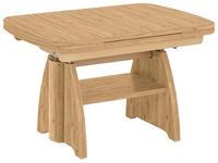 COUCHTISCH in Holzwerkstoff, Metall 90(130,5)/65/56-71 cm - Eichefarben, KONVENTIONELL, Holzwerkstoff/Metall (90(130,5)/65/56-71cm) - Venda