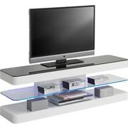 TV-ELEMENT in Schwarz, Weiß - Schwarz/Weiß, Design, Glas/Holzwerkstoff (140/45/39cm) - XORA
