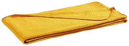 WOHNDECKE 150/200 cm Goldfarben  - Goldfarben, Design, Textil (150/200cm) - Novel