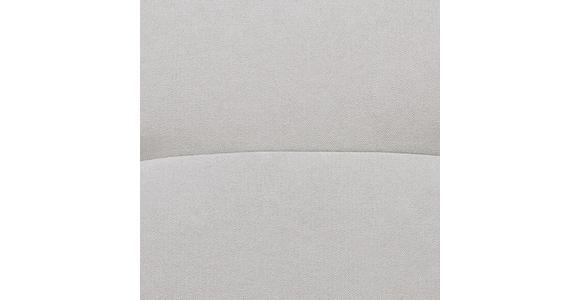 WOHNLANDSCHAFT in Textil Silberfarben - Silberfarben/Schwarz, MODERN, Textil/Metall (252/176cm) - Hom`in