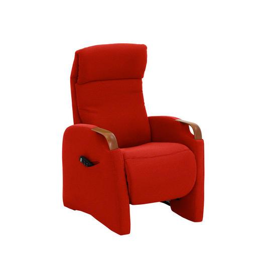 FERNSEHSESSEL in Rot Textil - Rot/Schwarz, KONVENTIONELL, Kunststoff/Textil (68/113/84cm) - VALDERA
