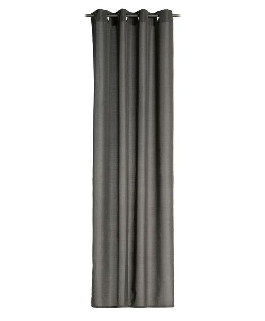 ÖSENSCHAL  blickdicht   140/245 cm - Graphitfarben, Basics, Textil (140/245cm)