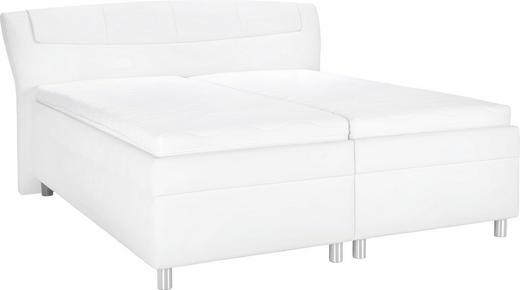 POLSTERBETT Lederlook 200/210 cm - Chromfarben/Weiß, KONVENTIONELL, Textil/Metall (200/210cm) - ESPOSA