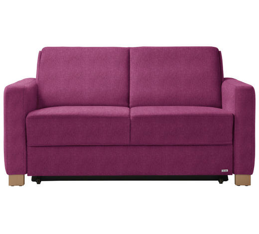 SCHLAFSOFA in Textil Pink  - Pink/Naturfarben, KONVENTIONELL, Holz/Textil (160/86/92cm) - Sedda