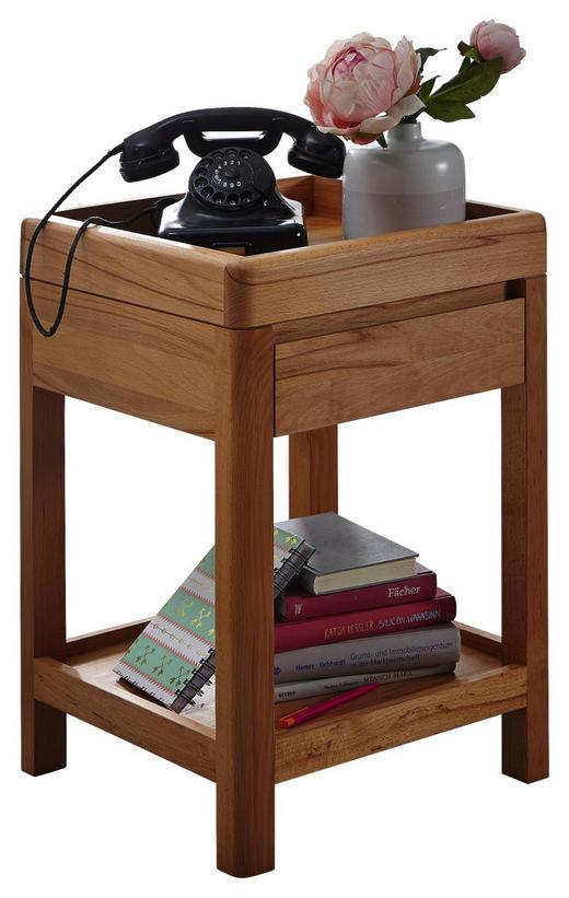 BEISTELLTISCH Kernbuche vollmassiv geölt, naturgeölt Buchefarben - Buchefarben, Design, Holz (40/60/40cm) - Carryhome