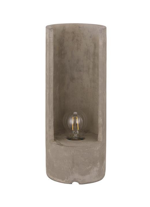 TISCHLEUCHTE - Grau, ROMANTIK / LANDHAUS (14/37cm)