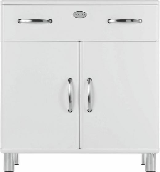 KOMMODE Weiß - Weiß/Nickelfarben, Design, Holzwerkstoff/Metall (86/92/41cm) - CARRYHOME