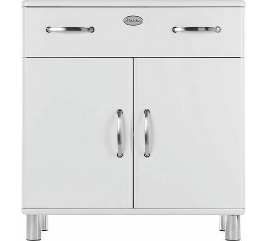KOMMODE lackiert, Melamin Weiß  - Weiß/Nickelfarben, Design, Holzwerkstoff/Metall (86/92/41cm) - Carryhome