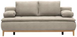 BOXSPRINGSOFA in Textil Beige  - Eichefarben/Beige, MODERN, Holz/Textil (202/78/93/100cm) - Venda