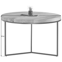 COUCHTISCH in Holz, Metall  80/50 cm - Eichefarben/Schwarz, Design, Holz/Metall (80/50cm) - Novel