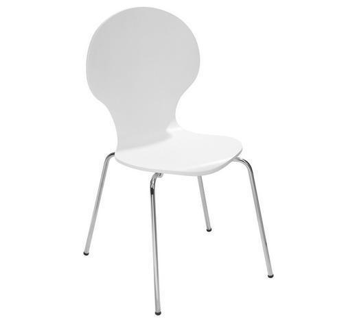 STUHL Weiß  - Weiß, Design, Metall (47/87/53cm) - Carryhome