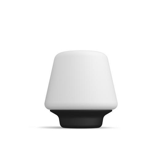 LED-Tischleuchte HUE WELLNESS - Schwarz/Weiß, Design, Glas/Holz (18,6/19,3/18,6cm) - Philips