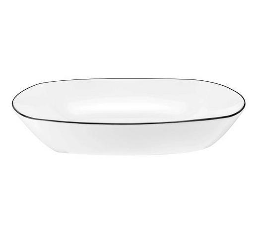 SUPPENTELLER 21 cm  - Schwarz/Weiß, Basics, Keramik (21cm) - Seltmann Weiden