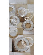ULJENA SLIKA - bijela/boje srebra, Design, drvo/tekstil (55/120cm) - Monee