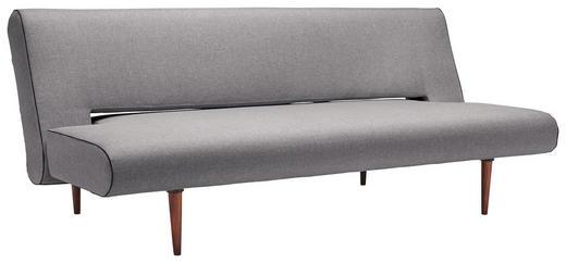 SCHLAFSOFA Grau - Dunkelbraun/Grau, Design, Holz/Textil (200/84/93cm) - Innovation