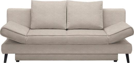 SCHLAFSOFA in Textil Beige - Beige/Schwarz, Design, Textil/Metall (200/85/90cm) - Xora