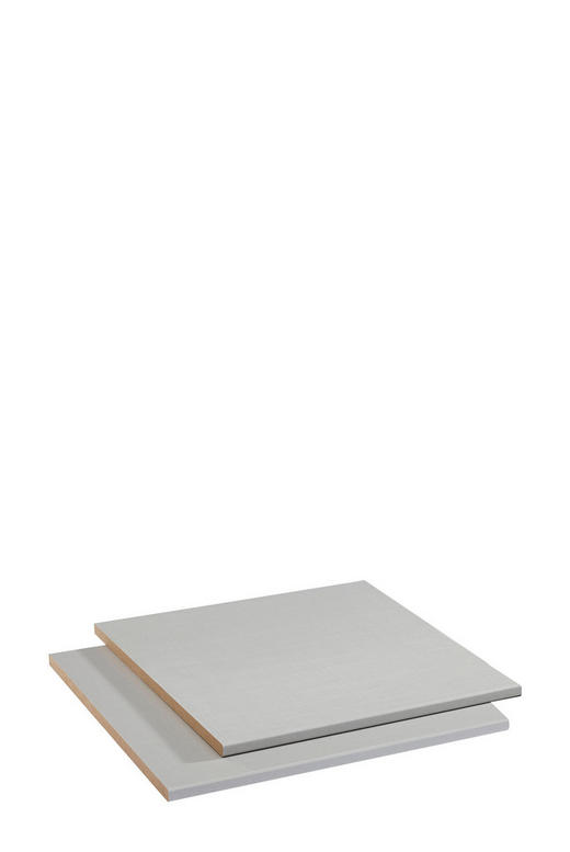 EINLEGEBODENSET 2-teilig für 50er Elemente Grau - Grau, Design (50cm) - Hom`in