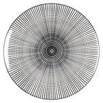 Porzellan  DESSERTTELLER  rund  - Schwarz/Weiß, Trend, Keramik (20,5cm) - Novel