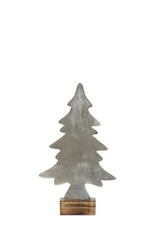 SKULPTUR - Silberfarben, Basics, Holz/Metall (20/5/33cm)