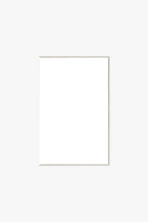 PASSEPARTOUT  Weiß - Weiß, Papier (30/40cm)