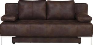 SCHLAFSOFA in Textil Braun  - Chromfarben/Braun, Design, Textil/Metall (193/85/89cm) - Carryhome