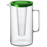 Glaskrug 2,5 L  - Transparent/Grün, Basics, Glas/Kunststoff (17,6/25,2cm) - Bohemia