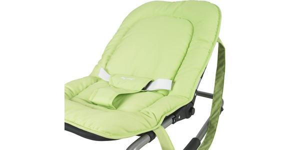 SCHAUKELWIPPE Muffin - Silberfarben/Hellgrün, Basics, Kunststoff/Textil (50/40/74cm) - MY BABY LOU