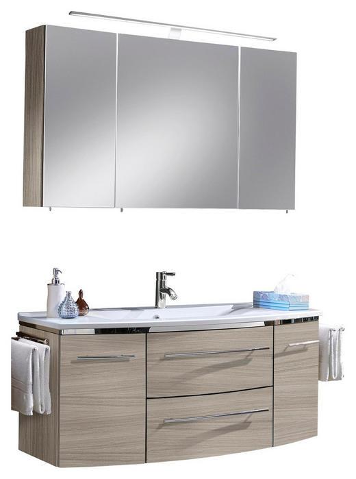 BADEZIMMER Kastanienfarben - Kastanienfarben/Weiß, Design, Stein (122cm) - Welnova
