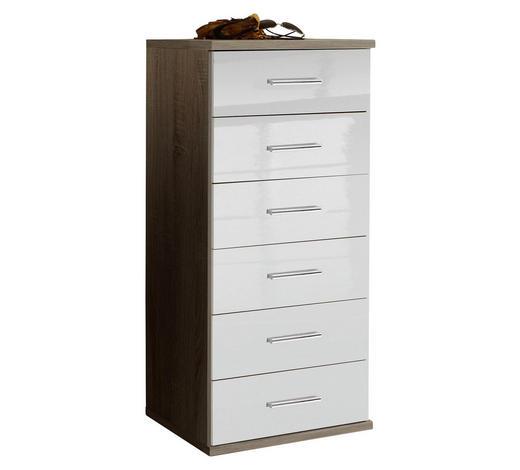 KOMMODE 46/103/40 cm - Chromfarben/Eichefarben, Design, Holzwerkstoff/Kunststoff (46/103/40cm) - Xora