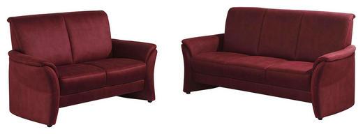 SITZGARNITUR Mikrofaser Bordeaux - Bordeaux, Design, Textil (188/138/96/88cm) - Elegando