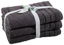 FROTTIERSET 50/100 cm 3-teilig  - Anthrazit, Basics, Textil (50/100cm) - Esposa