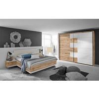 SKŘÍŇ S POSUVNÝMI DVEŘMI, bílá, barvy dubu - bílá/barvy dubu, Design, kov/kompozitní dřevo (270/225/61cm) - Carryhome