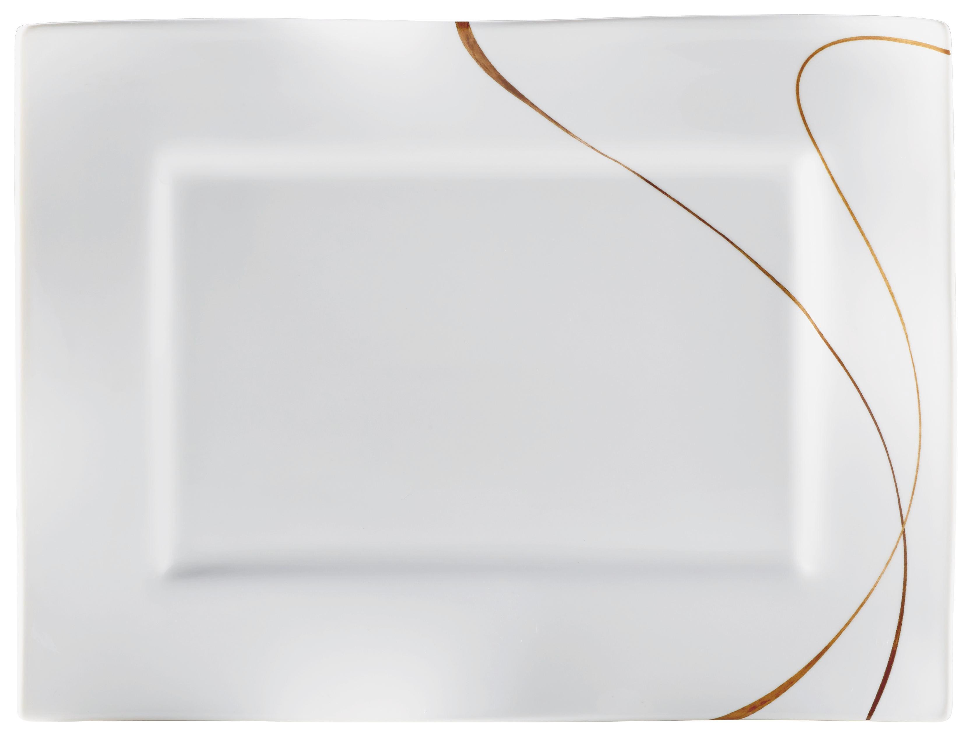 SERVIERPLATTE 25/19/2 cm - Braun/Weiß, Keramik (25/19/2cm) - RITZENHOFF BREKER